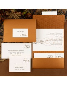 Copper Pocket (FBN8699-70) - Select By Budget  - Wedding Invitations | Printez.com