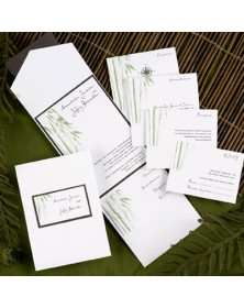 Bamboo Pocket (FBN9231MCL16-73) - Select By Budget  - Wedding Invitations | Printez.com