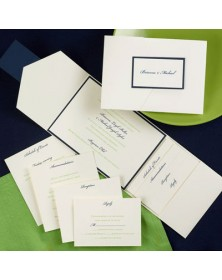 Classico Navy and Ecru Pocket (FBN9351NVL8-70) - Select By Budget  - Wedding Invitations | Printez.com