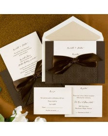 Intricate Mocha (FBN9658-99) - Select By Budget  - Wedding Invitations | Printez.com