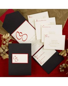 Captivating Capsule with Black Pocket in Ecru (FBN9936CLL6-70) - Select By Budget  - Wedding Invitations | Printez.com