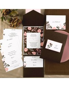 Mod Salmon and Mocha Pocket (FBN3084WHL24-73) - Select By Budget  - Wedding Invitations | Printez.com