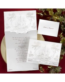 JA1329-87 , Cherubs, Calla Lilies & Candles (JA1329-87) - Select By Budget  - Wedding Invitations | Printez.com