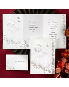 Loves Embrace - Wine (JA3548-87) - Select By Budget  - Wedding Invitations | Printez.com