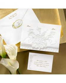 Beautifully Embossed Lilies (JA7210-87) - Select By Budget  - Wedding Invitations | Printez.com