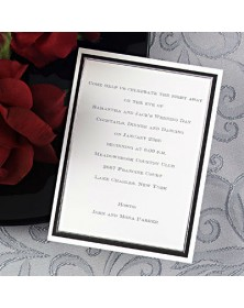 Black and Silver Celebration (NA7267V-93) - Save The Date Invitations  - Wedding Invitations | Printez.com