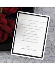 Black and Silver Celebration (NA7267V-93) - Save The Date Invitations  - Wedding Invitations | Printez.com