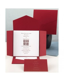 Cherry Self-Mailer with a White Card (WAN9687) - Other Invitations  - Wedding Invitations | Printez.com