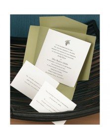 Olive Self-Mailer with Ecru Card (WAN7893) - Other Invitations  - Wedding Invitations | Printez.com