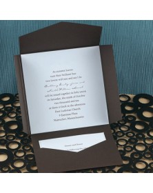 Chocolate Self-Mailer with a Water Card (WAN9786) - Other Invitations  - Wedding Invitations | Printez.com