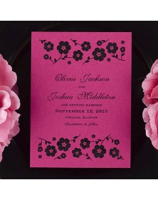 Date Savers - Fuchsia (NB1508H-93) - Save The Date Invitations  - Wedding Invitations | Printez.com