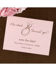 Date Savers - Pink (NB1760H-93) - Save The Date Invitations  - Wedding Invitations | Printez.com