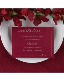 Date Savers - Claret (NB1763H-93) - Save The Date Invitations  - Wedding Invitations | Printez.com