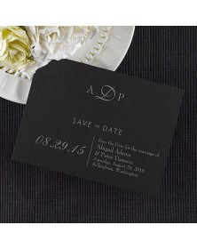 Date Savers - Black (NB1764HFI864-93) - Save The Date Invitations  - Wedding Invitations | Printez.com