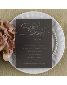 Date Savers - Mocha (NB1767VFI-93) - Save The Date Invitations  - Wedding Invitations | Printez.com