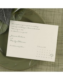 Date Savers - Ecru (NB8NH-S32) - Save The Date Invitations  - Wedding Invitations | Printez.com
