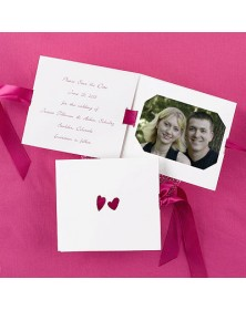 Double Hearts (NBF7910-94) - Save The Date Invitations  - Wedding Invitations | Printez.com