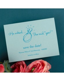 Date Savers - Teal (NB8187H-93) - Save The Date Invitations  - Wedding Invitations | Printez.com
