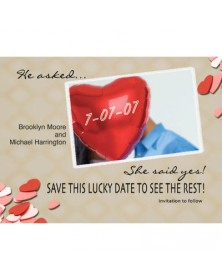Lucky Date (WA98QI-93) - Save The Date Invitations  - Wedding Invitations | Printez.com