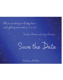 Lucky Stars (WA98QJ-93) - Save The Date Invitations  - Wedding Invitations | Printez.com