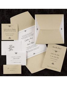 Wrapped in Gold (WRN9446A-68) - Select By Budget  - Wedding Invitations | Printez.com