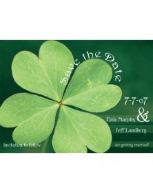 Luck of the Irish (WA98QH-93) - Save The Date Invitations  - Wedding Invitations | Printez.com