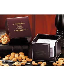 Note Holders with Faux Leather Note Holder with Extra Fancy Jumbo Cashews