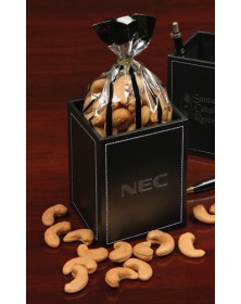 Pen & Pencil Cups with Faux Leather Pen & Pencil Cup with Extra Fancy Jumbo Cashews