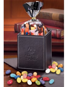 Pen & Pencil Cups with Faux Leather Pen & Pencil Cup with JELLY BELLY® Gourmet Jelly Beans