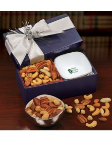 Rombe Silver Bowl Gifts with Rombe™ Four-Corner Bowl with Deluxe Mixed Nuts