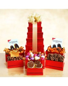Godiva For Any Occasion Food Gift Tower