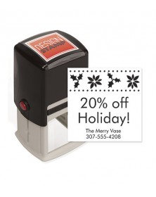 Holly Joy Design Stamp - Self-Inking