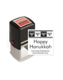 Hanukkah Cheer Design Stamp - Self-Inking