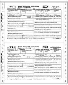 Continuous 1042-S Tax Forms - 5-Part - Dated