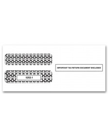 3 Up 1099 MISC Income Horizontal Double Window Envelope
