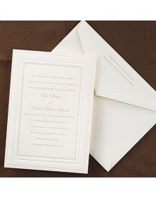 Elegant Borders - Invitation - Ecru