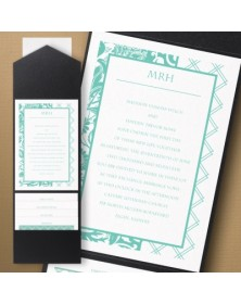 Thermo Lovely Lattice Pocket Invitation