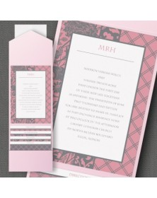 Lovely Lattice Pocket Invitation