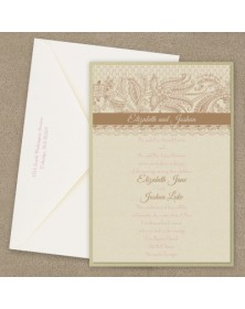 Lace Artistry Layered Invitation