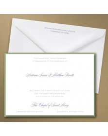 Thermo Simple Elegance Layered Invitation