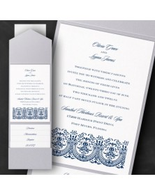 Thermo Hearts of Glory Pocket Invitation