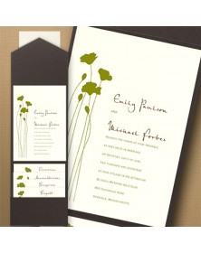 Thermo Blooming Blossoms Pocket Invitation