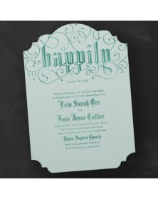 Swirling Shimmer - Invitation - Aqua - Option 5