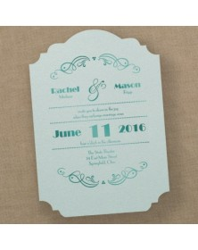 Stylish Shimmer - Invitation - Aqua - Option 6