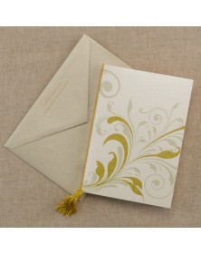 Sparkling Swirls - Invitation - Gold