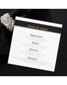 Formal Menu Card (AA71HHGM) -   -  | Printez.com