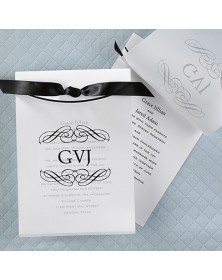 Swirls Monogram - Invitation