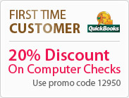 20% Discount on Computer Checks