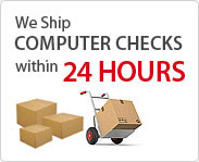 Computer Checks ships in 24 hours