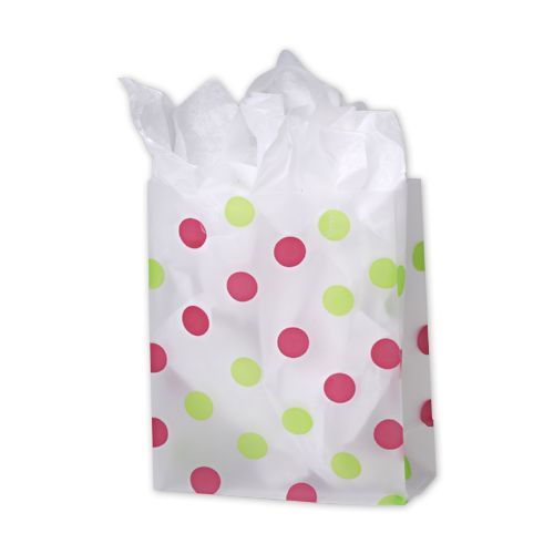 Pnk Grn Dot Clr Frosted Bag